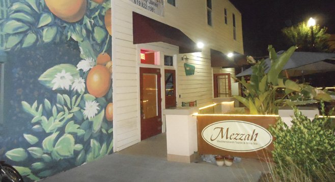 Mezzah opens onto Prescott Promenade park in downtown El Cajon.