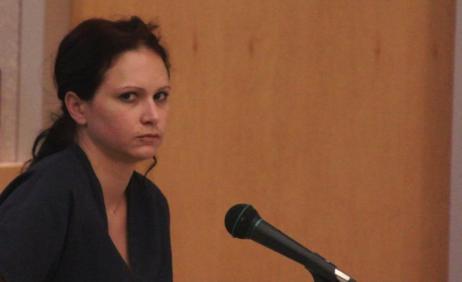 Lindsey Cannon back in court today.  Photo Bob Weatherston.