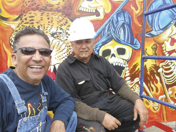 Chicano Park muralists Armando Nuñez and Guillermo Aranda recall the project's 1973 beginnings.