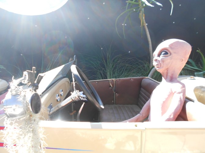Out of this world was the theme of the Del Mar Fair and here is a visitor to prove it,.