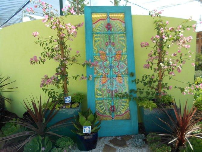 Pretty door at Home & Garden Exhibit at Del Mar Fair.