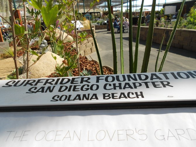 Surfrider San Diego Ocean Lover's Garden at Del Mar Fair.