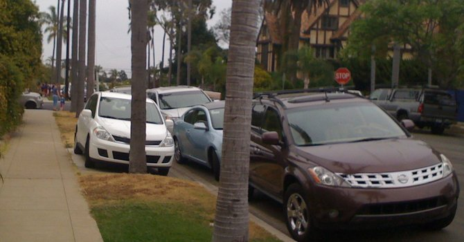 Parking crunch, 4th of July, 2012, Coronado.