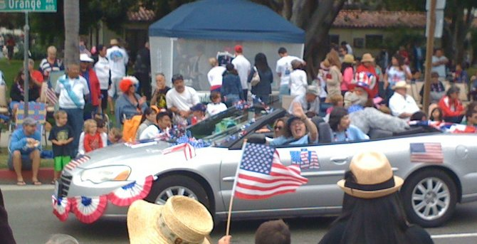 One of many parade cars 4th of July parade, 2012, Coronado.