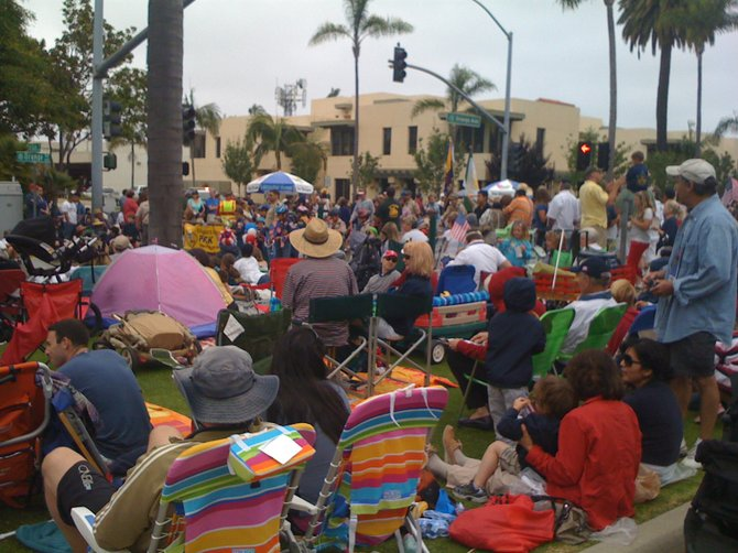 July 4, 2012 Crowd on Orange Ave., Coronado