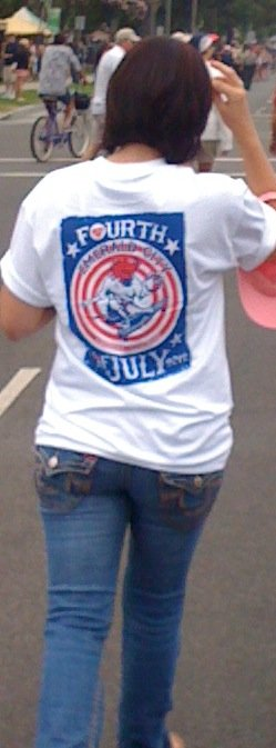 4th in T-shirt series, 4th of July, 2012, Coronado.