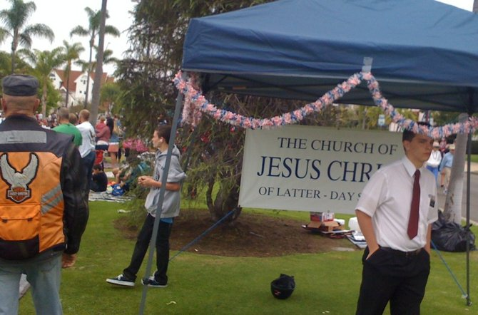 Mormons on Orange Ave., 4th of July, 2012, Coronado.