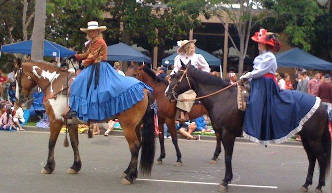 Horsewomen. 4th of July, 2012, Coronado