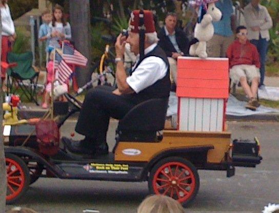 Masons -1. 4th of July, 2012 parade. Coronado