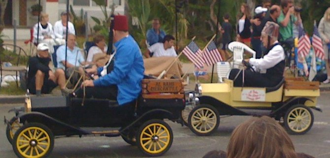 Last of Masons in Coronado parade, July 4, 2012.