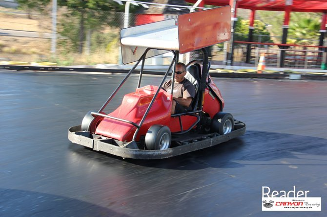 Karts have 9HP Honda OHV Engines and are more than powerful enough for a slick track.