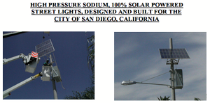 First State of CA Solar Powered Street Lights installed in North Park, CA 92104 by the NP-LLMD in 2007
