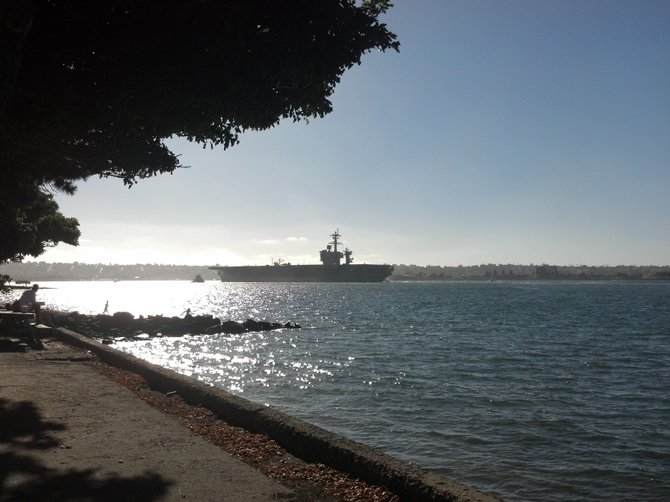 Carrier Leaves SD Bay