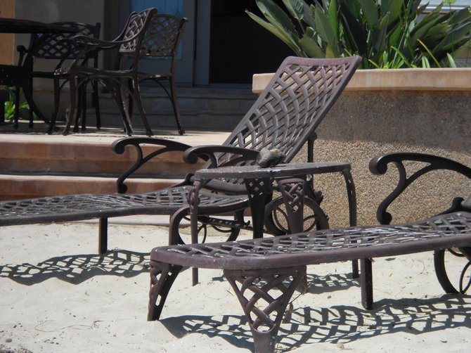 Cool furniture on the beach in Point Loma.