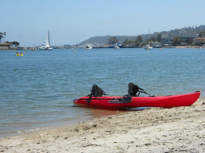 Kayak at Kellogg's Beach in Pt. Loma.