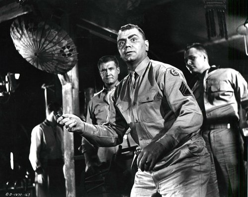 Bottle-wielding military maniac Sgt. 'Fatso' Judson in *From Here to Eternity* (1953). Even Superman couldn't stop him!