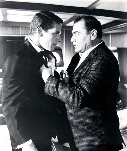 "Tough guy Barney Yale, warns Stephen Boyd not to ""shuck"" him in the cream of the crap masterwork, ""The Oscar"" (1966)."