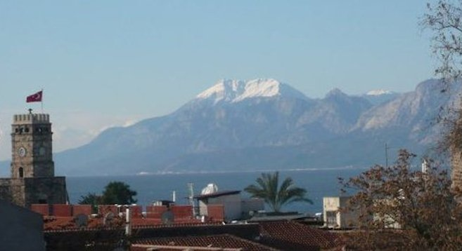 Home for a year: the Turkish Mediterranean resort town of Antalya, framed by the Taurus Mountains.