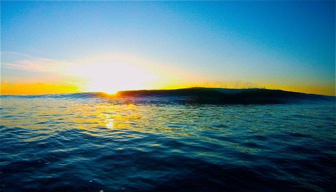 Cresting Wave at Sunset Cliffs