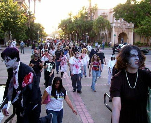 Past Zombie Walk in Balboa Park