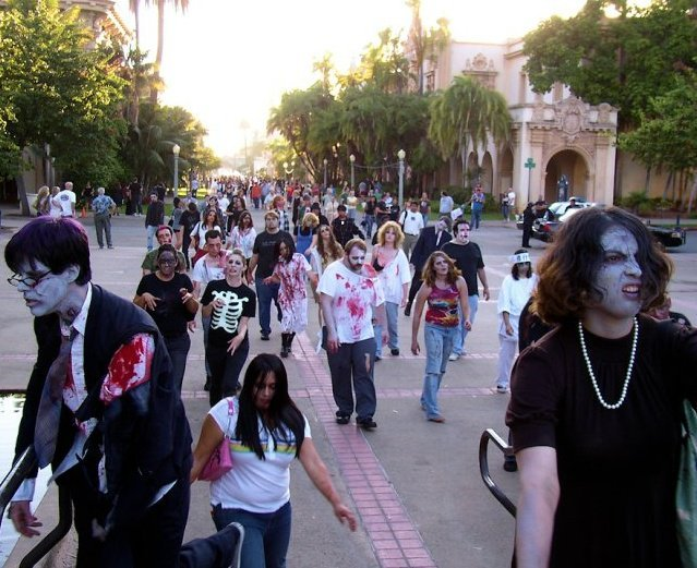 Past Zombie Walk in Balboa Park