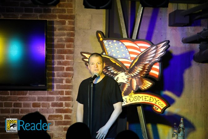 This guy showed up to American Comedy Co for the Deathsquad show but Reader Andy can't remember his name... Anybody know?