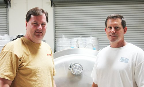 Rip Current owners and brewing duo Paul Sangster (left) and Guy Shobe.