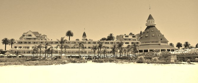 Summertime at Hotel del Coronado- July 2012 (Sepia effect)