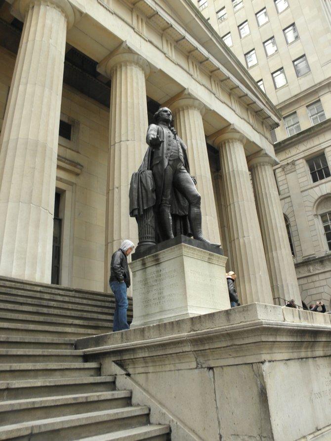 New York City George Washington Statute