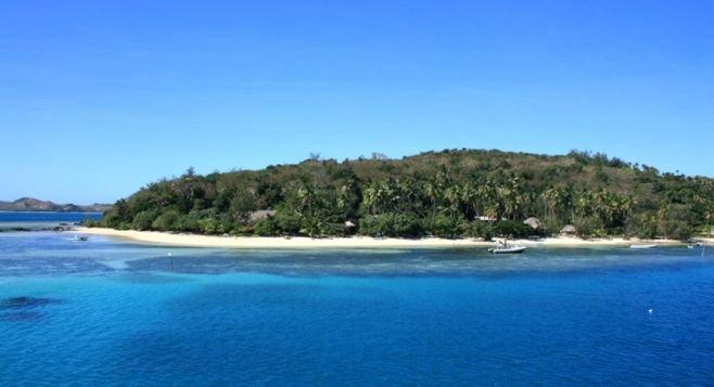 Turqoise waters off the coast of Fiji's Yasawas.