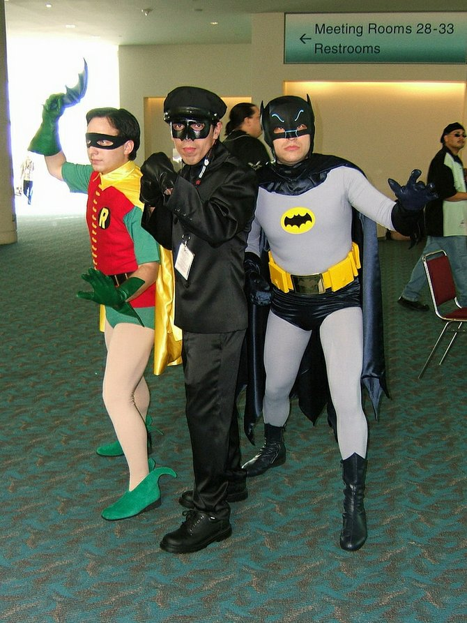 Batman, Robin, and Kato 1960s TV Heros