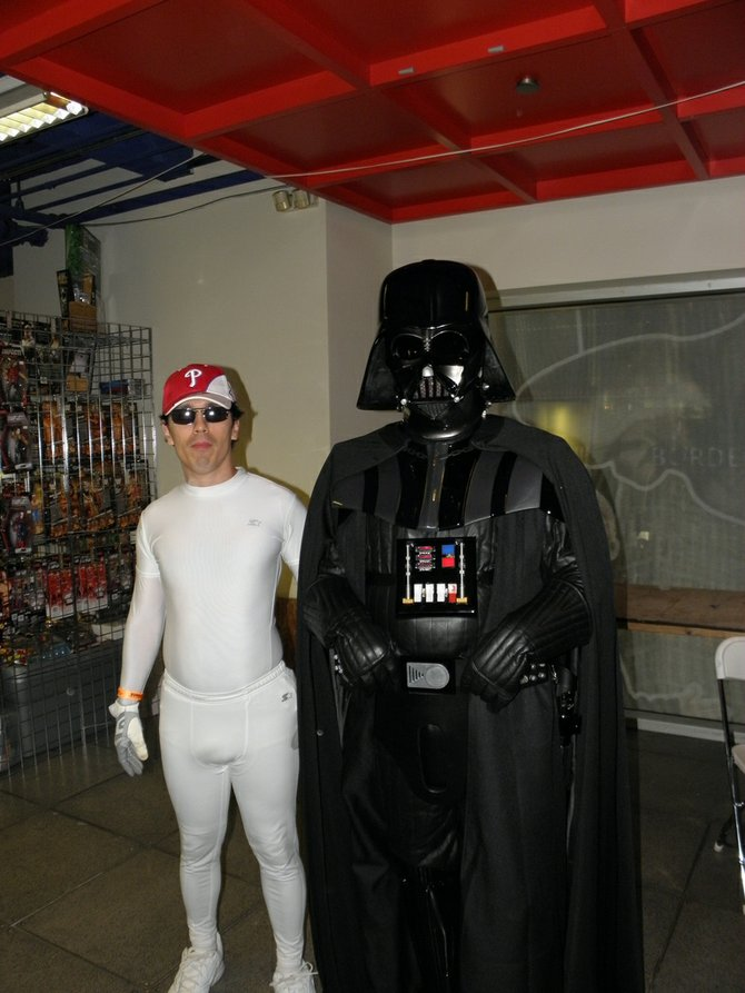Me and Darth Vader at Comic Con