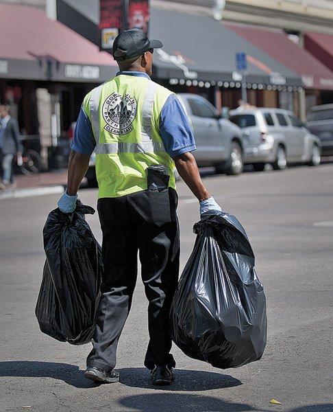 ...trash pickup...