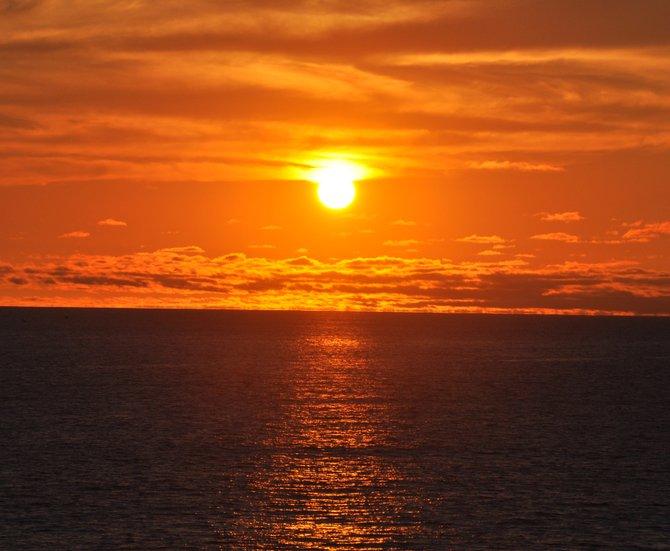 Sunset San Antonio Del Mar, Baja, Mexico
