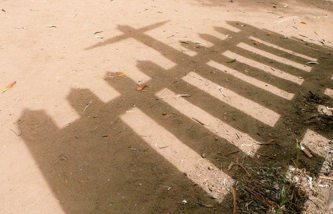 Shadow, El Campo Santo Cemetery, Old Town - San Diego, CA.