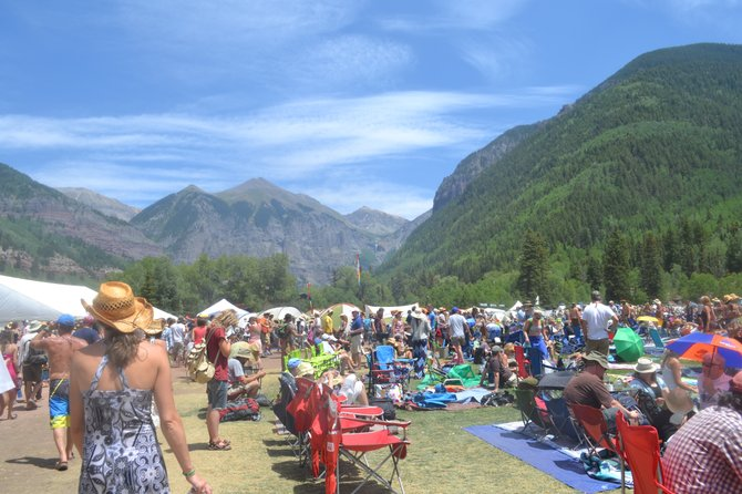 a visibly hot day at Telluride