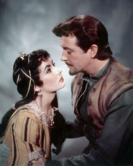 "Elizabeth Taylor and Robert Taylor star in ""Ivanhoe"" (1952)."