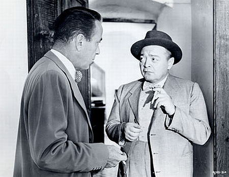 "Humphrey Bogart and Peter Lorre in ""Beat the Devil"" (1953)."