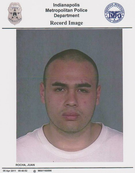 Juan Rocha fugitive booking photo.