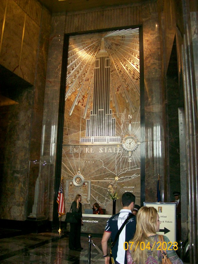 Inside the Main Hall of the Empire State Building. New York City