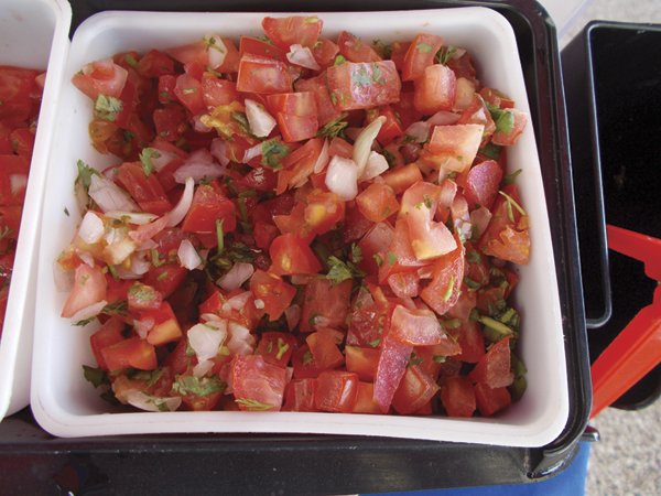 Salsa fresca, and it all was very fresh...