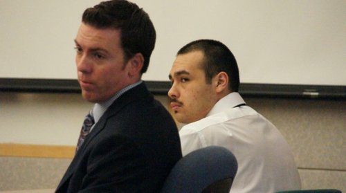 Defense attorney Patrick McCoy and Juan Alberto Rocha.  Photo Bob Weatherston.
