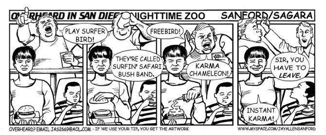 Nighttime zoo