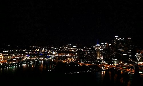 nighttime skyline from Mount Washington