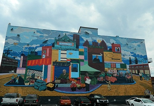 local flavor in the city's mural art