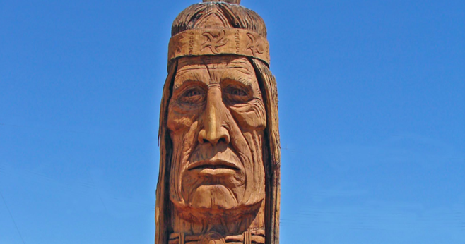 Image of Waokiye, at Cabot's Pueblo Museum in Desert Hot Springs, from www.dcschumaker.com
