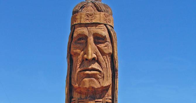 Image of Waokiye, at Cabot's Pueblo Museum in Desert Hot Springs, from www.dcschumaker.com