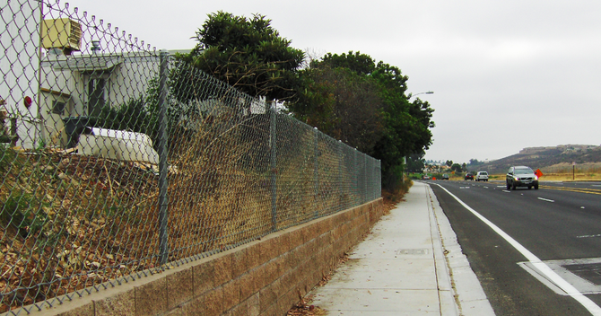 """""""All we have now separating the residents from 50-mile-an-hour traffic is a flimsy chain-link fence. We lost our noise barrier."""