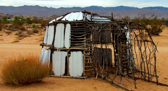 "Sustainable art: ""Igloo"" in Noah Purifoy's Outdoor Desert Art Museum."
