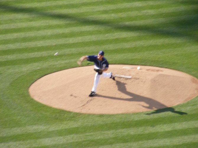 Padres starting pitcher Kip Wells